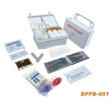 Trousse de premiers soins à domicile avec boîte en plastique