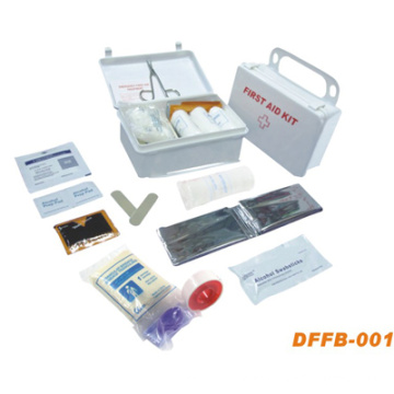 Equipo de primeros auxilios para el hogar con caja de plástico