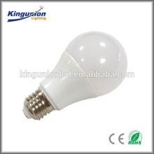 E27 5w 7w 9w boîtier à ampoule avec plastique blanc pour showroom
