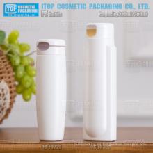 220ml 300m hermoso diseño mate acabado botella cosmética de color personalizable hdpe reciclable