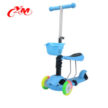 3 in 1 Mini Kick Scooter With Three Flash Wheels , 3 wheel stand up smart kick scooter , self balance best kick scooter