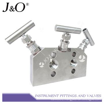 Stainless Steel Instrument 3ways Valve Manifold