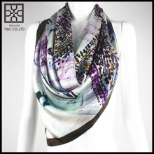 2015 New Design 100% Silk square scarf