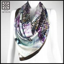 2015 Novo lenço quadrado de seda 100% Silk