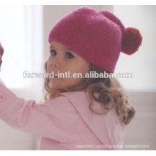 Sombrero infantil de cachemira, gorro infantil de lana de cachemira, gorro tejido de cachemira