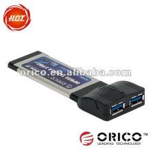 Tarjeta expresa del pci del ordenador portátil de 2ports USB3.0