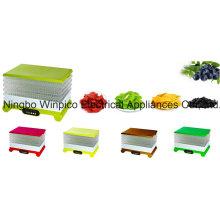 Novos Desidratadores de Alimentos de 6-Camadas de 22-litros e 520-Watts