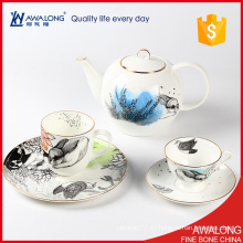 Taza encantadora del pote del té de la impresión del conejo y taza para el modelo casero / animal del té del desayuno de la mañana