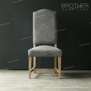 Caliente sofisticado comedor tapicería antigua telas comedor sillas
