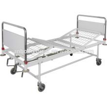 Epoxy power coating double cranks hospital bed
