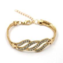 Jóias da forma da promoção Jóia do bracelete do cristal de Cusotm do chapeado ouro