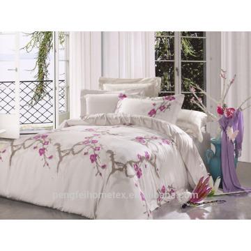 Tecido de microfibra escovado para folha de cama com boa qualidade