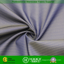 Phantom Checks Dobby Polyester Fabric with Cation Fiber for Jacket