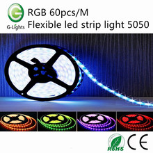 RGB 60pcs/M flexible led strip light 5050