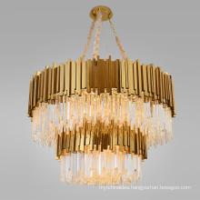 Modern pendant hotel lobby decoration hanging pendant lights crystal luxury chandelier lamp