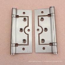 Charnière de porte en bois en acier inoxydable