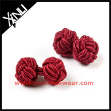 New Color Combination Silk Flower Knot Cufflinks