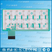 Matrix flexible membrane circuit switch with 3M467 adhesive