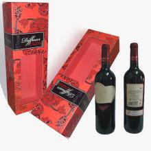 Zylinder Wein Verpackung / Zylinder Weinbox mit Fenster