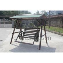 wooden swing seat/flatback log swing/2-Person cedar swing/cedar swing