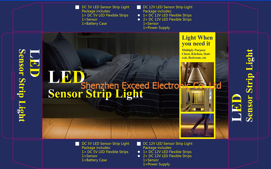 Single Sensor LED Bed Light