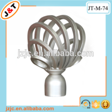 high quality fancy hollow rustic curtain rod with iron finial