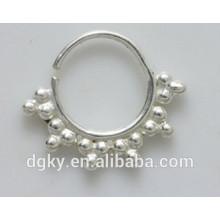 Cirugía de acero estilo de moda anillos de nariz tribales septum anillos de septo de la India