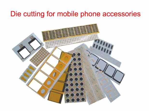 Flatbed Die Cutting Machine Application Mobile Phone Accessories