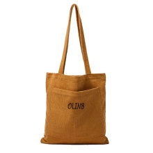 Simple Designer Women Corduroy Beach Tote Bag