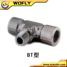 Hexágono cabeza de código de acero inoxidable rama T tubo de montaje