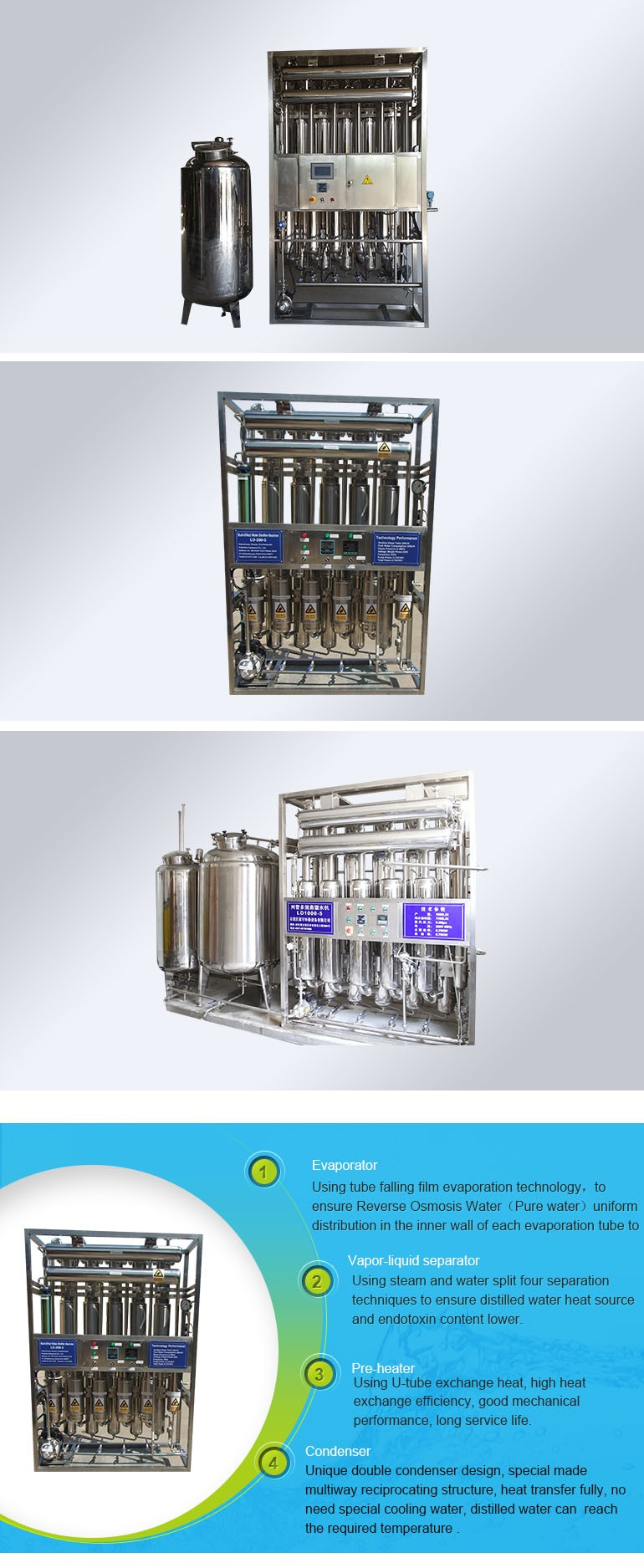 2000L/H Distilling Injectable Use
