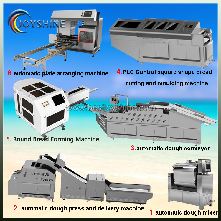 big size automatic round shape steam bread production line (2)