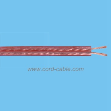 Bulk Speaker Cable Economical Transparent PVC Jacket