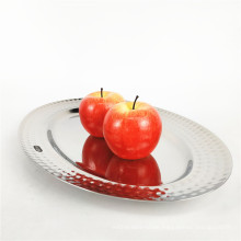 Cheap Price Stainless Steel Silver Food Tray Plates Serving Dishes