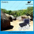 4W 11V Solarpanel 3PCS 1W LED Solarglühlampen Solar Kit Home Solar System