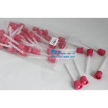 Розовый дентальный силиконовый миксер