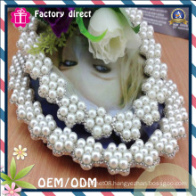 Diamond with Pearl Design Oval Photo Frame