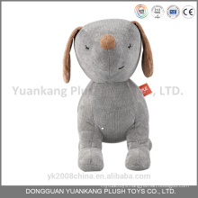 Valentine plush white grey stuffed dog with heart
