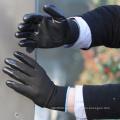 NMSAFETY 13 calibre de malha preto sem costura forro de poliéster palma revestido luvas de segurança de trabalho de nitrilo preto para indústria leve