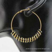 Joyería de moda colgando pendiente diseño en forma de anillo tipo pendientes