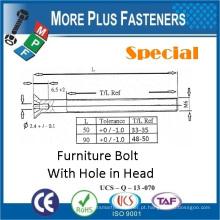 Feito em Taiwan Din 965 Pozi Flat Head Bolt com furo no parafuso da máquina principal