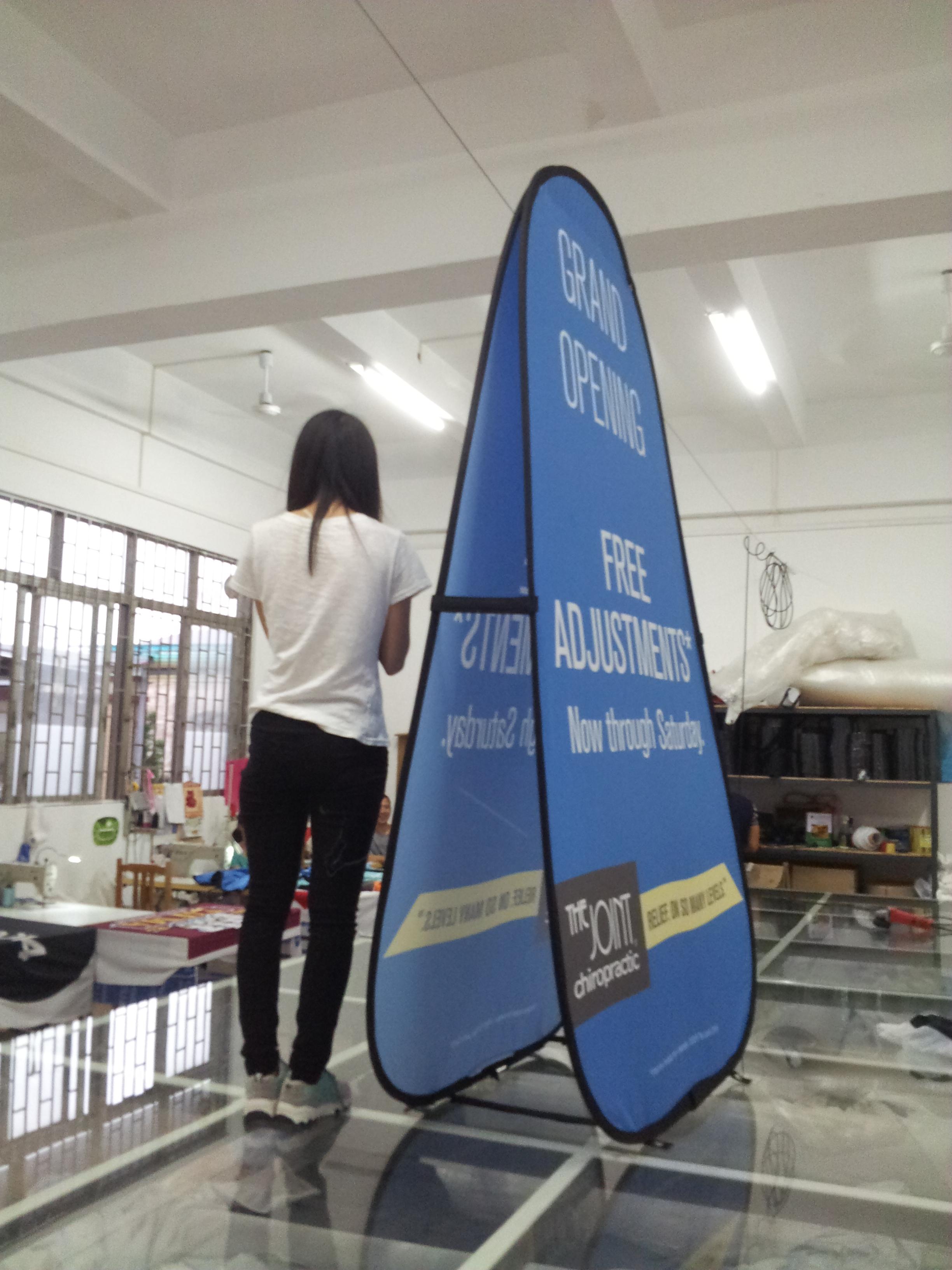 Vertical A-frame banner