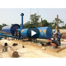 20T / D CE, ISO certifié usine de recyclage de pyrolyse des pneus usés dans les déchets solides municipaux