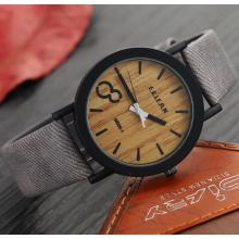 Yxl-467 2016 Newest Design Wholesale Wooden Color Face Watch Custom Logo Fashion Leather Wrist Watch Ladies