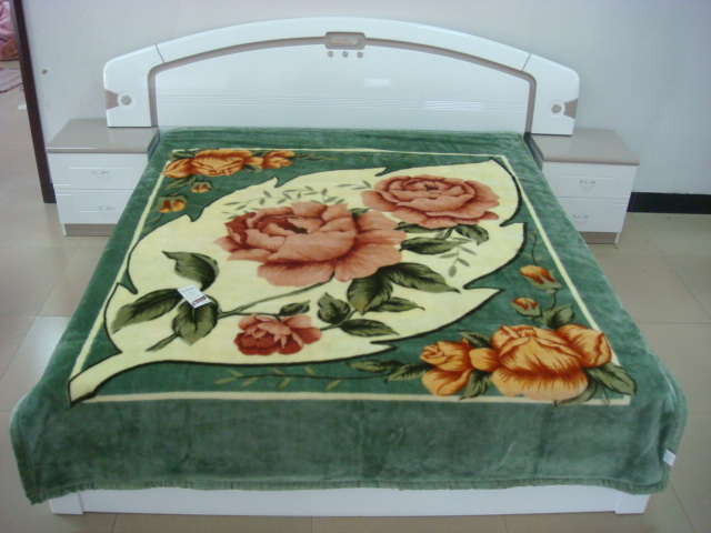 Green color adult blanket