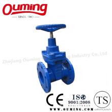 Válvula de compuerta de acero inoxidable DIN con manivela