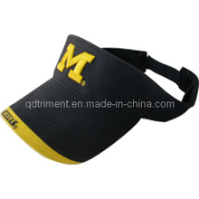Top Quality Joint Panel Embroidery Twill Sport Golf Visor (TRV011)
