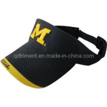 Top qualidade painel comum bordado twill esporte golfe visor (trav011)