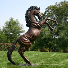 Outdoor-Leben Größe antike Messing Pferd Statue zu verkaufen