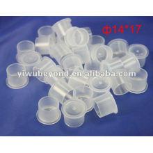 100pcs Plastic Tattoo Ink Cups Caps Pigment Supplies White Small Medium Large